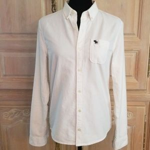 Abercrombie white button-down